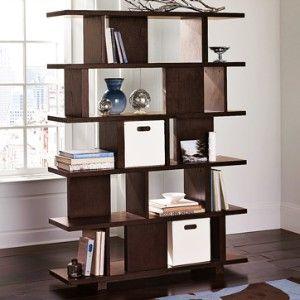 West Elm Room Divider Bookcase Chocolate