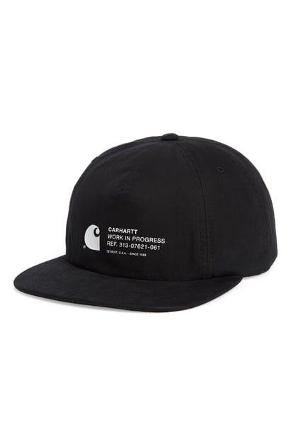 edc3091f CARHARTT WORK IN PROGRESS COLEMAN BASEBALL CAP - BLACK.  #carharttworkinprogress