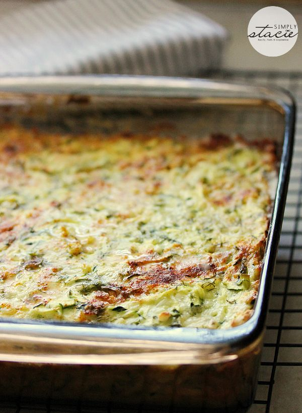 Cheesy Zucchini Bake - a delicious recipe to use up the zucchini in your garden!