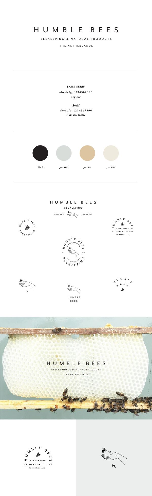 Humble Bees Branding by Saturday Studio