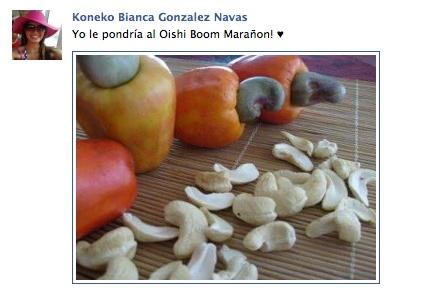 Koneko Bianca Gonzalez Navas nos pidió por Facebook: Yo le pondría al Oishi Boom Marañon! ♥