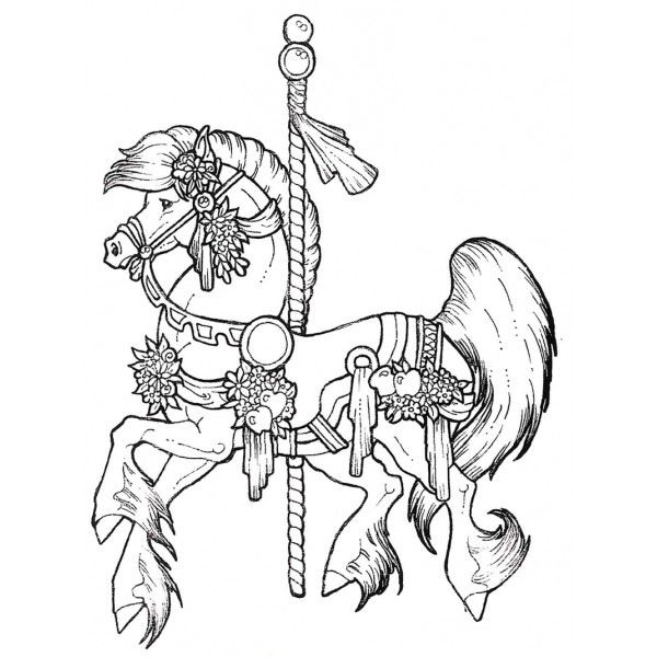 Carousel Horse Coloring Page 2