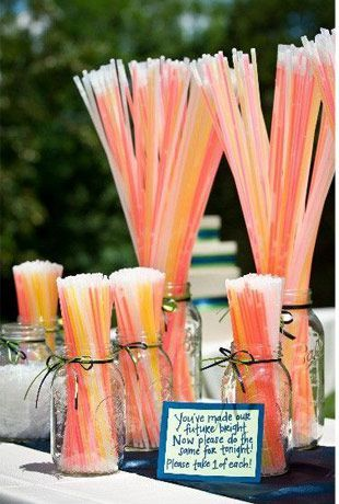 wedding glowsticks - Read more on One Fab Day: http://onefabday.com/festival-style-wedding-ideas/