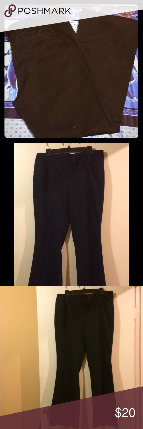 Black Trousers Black khaki trousers. Bootcut. Size 14 Tall. NWOT. Express Pants Trousers