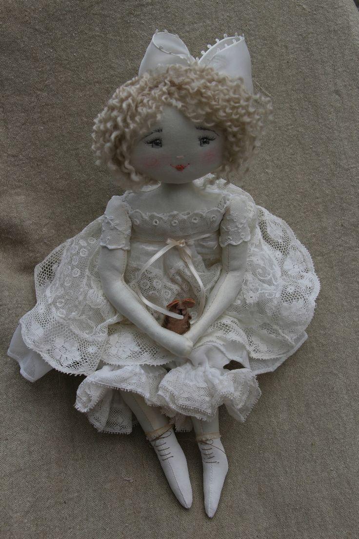 Dentelles др блондинки Cheveux ..Fantine .. (35 см) - Le Jardin Des Farfalous