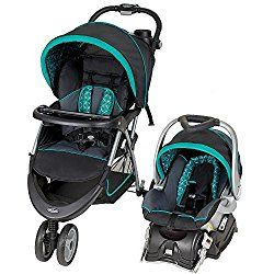 Lightweight Baby Trend EZ Ride Car Seat & Jogging Stroller Mosaic Pattern Green