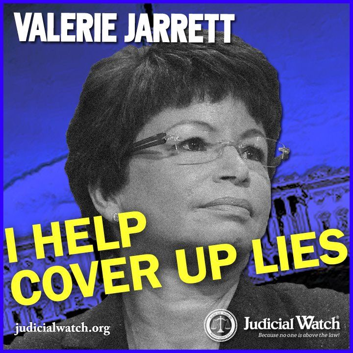 Obama's trusted senior advisor, Valerie Jarrett, was a key player in the effort to cover-up that Attorney General Eric Holder lied to Congress about the Fast and Furious scandal, according to public records obtained by Judicial Watch.  Details are Chilling.