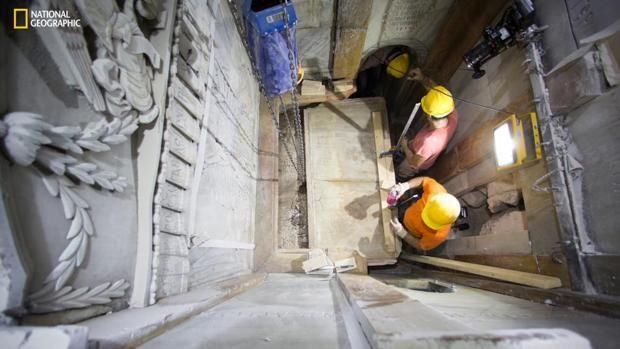 National Geographic filma los trabajos de restauración en curso en el que está considerado el lugar más sagrado para la Cristiandad. La tumba de Jesús