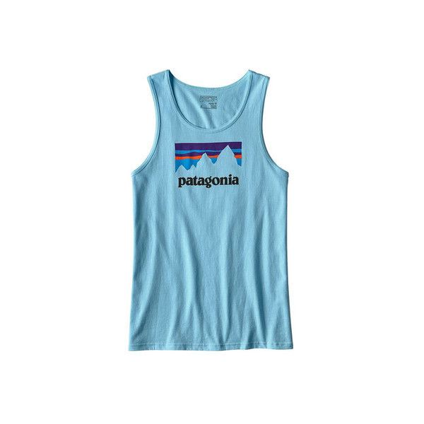 Men's Patagonia Shop Sticker Cotton Tank ($29) ❤ liked on Polyvore featuring men's fashion, men's clothing, men's shirts, men's tank tops, graphic t shirts, mens cotton tank tops, mens long length shirts, mens graphic tank tops, mens extra long tank tops and mens muscle shirts tank tops