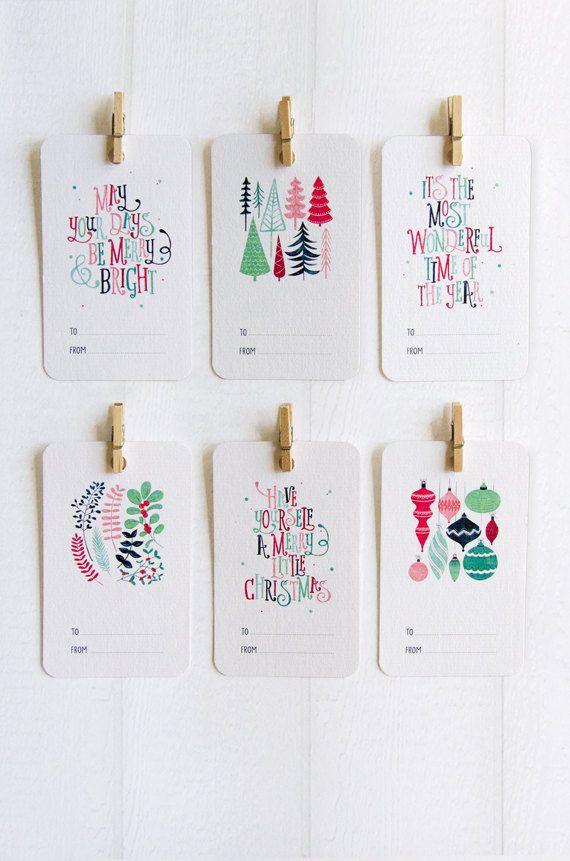 Christmas Gift Tags - Set of 6