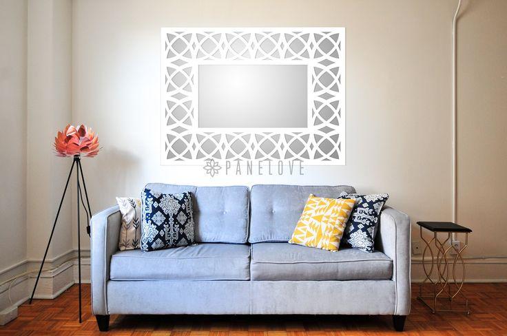 Ażurowa prostokątna rama (panel) do lustra o wymiarze 121x91 cm
