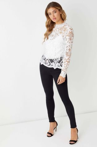 c9b1768fe8bd35 Lipsy All Over Lace Shell Top | tops | Tops, Shell tops, Lipsy