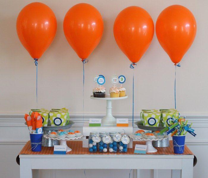 Colorful Trampoline + Jump themed birthday party via Kara's Party Ideas | KarasPartyIdeas.com (24)