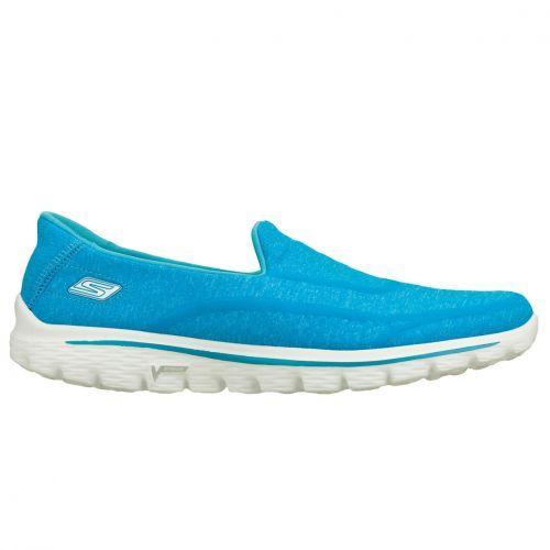 SKECHERS GO WALK 2 SUPER SOCK blue  De Skechers GOWALK2 Supersock is 50 % schoen en 50% sok, dit maakt de GOWALK2 100% comfortabel.