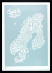Nordic europe type map from Bold and Noble