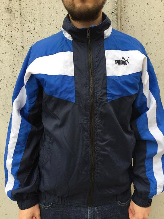Vintage Puma Jacket/ Track top by GreatestHitshop on Etsy