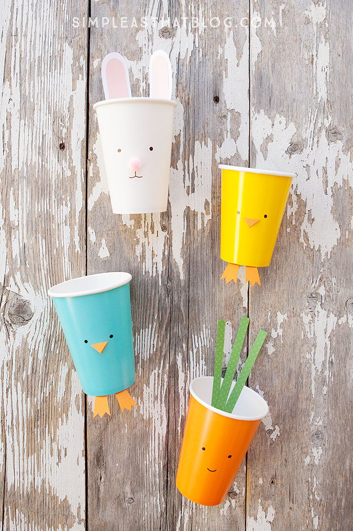 21 best paper cup crafts images on pinterest bricolage gift simple easter treat cups paper cup craftsspring jeuxipadfo Image collections