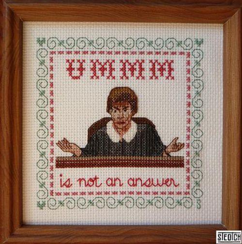 judge judy cross stitch1 Funny Cross Stitch Patterns (20 Pics)