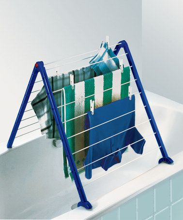 This indoor laundry drying rack folds into 16 positions - love it!  #zulilyfinds