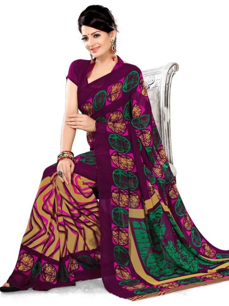 "WOW....Latest Designer Printed Silk Saree Only for 699/- | 20% OFF on #Coupon Code ""EQLIKES2000"" 