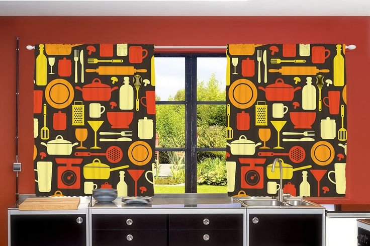This set of kitchen curtains will make your kitchen come to life. The unique designs and bright vibrant colors of these curtain sets will be the center piece of your kitchen. The images are very crisp and vivid. | eBay!
