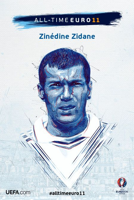 Zinédine Zidane - All-time EURO 11 Nominee