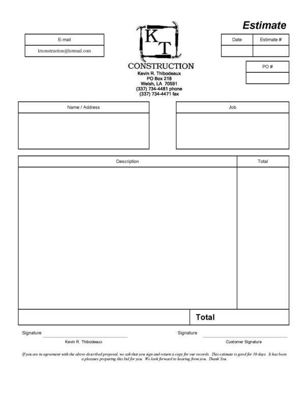 Best 25+ Estimate template ideas on Pinterest Invoice template - contractor estimate