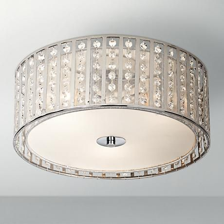 "Possini Euro Crystal Strands 15 3/4"" Wide Ceiling Light. Good size for your office."