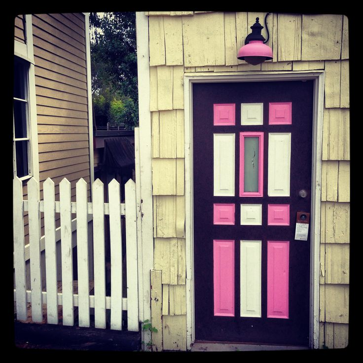 An adorable door at fort Langley