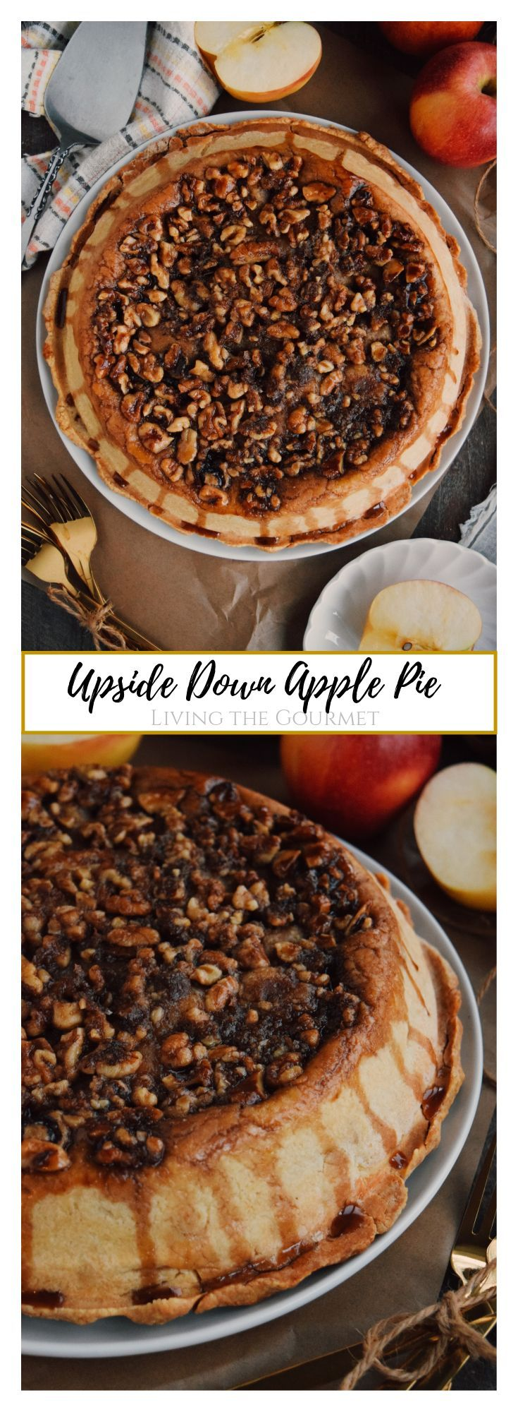 Upside Down Apple Pie Recipe in 2020 Dessert recipes