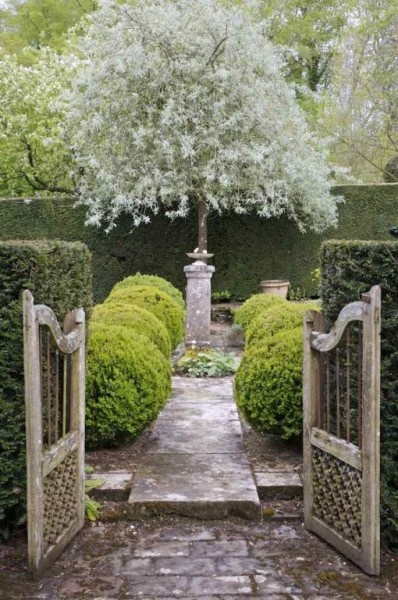 Beautiful French garden love the garden gate