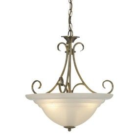 Cheri 3 Light Bowl Pendant in Antique Brass    old part of house