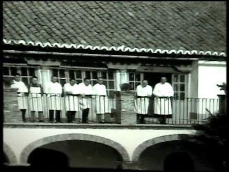 Personal sanitario del hospital de mineros en 1950.