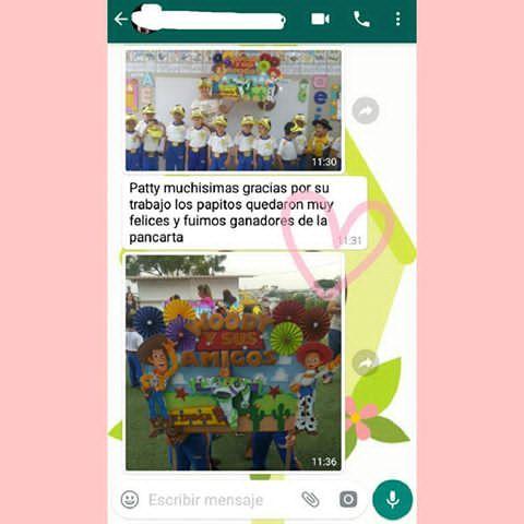 Gracias estimada por compartir su alegría conmigo.... Tenemos ya una pancarta ganadora #toystory .... 😍😊  #manualidadesenfomix #manualidades #handmade #fomix #foamy #gomaeva #pancartaolimpiadas #clientefeliz ☺    Cotizaciones y consultas al 📱whatsapp: 0993046521  Ecuador - Guayaquil