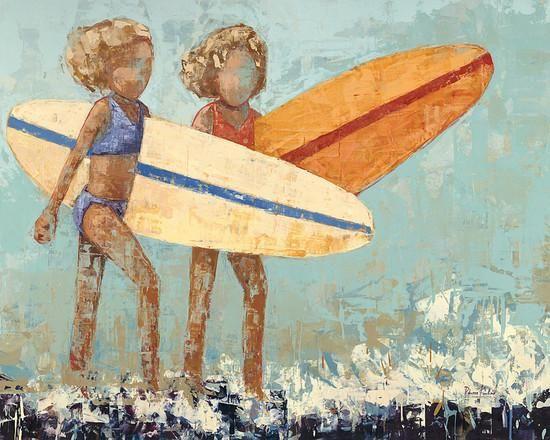 Bikini Surf Art Print by Rebecca Kinkead at Art.com