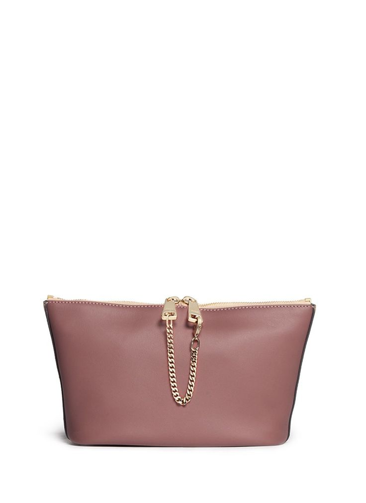 CHLOÉ - 'Baylee' medium leather pouch | Pink Small Leather Goods | Womenswear | Lane Crawford