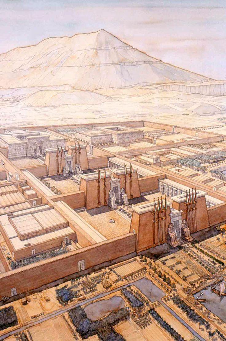 Egypt - Thebes (left bank) - The Amenophium (funerary temple)- jeanclaudegolvin.com