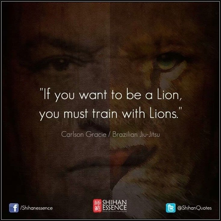 Want to be a lion? Only one way to become one