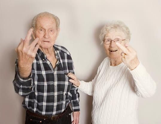 These badasses who have reached the ripe old age of giving no fucks. | 28 Photos That Will Give You Serious Relationship Goals