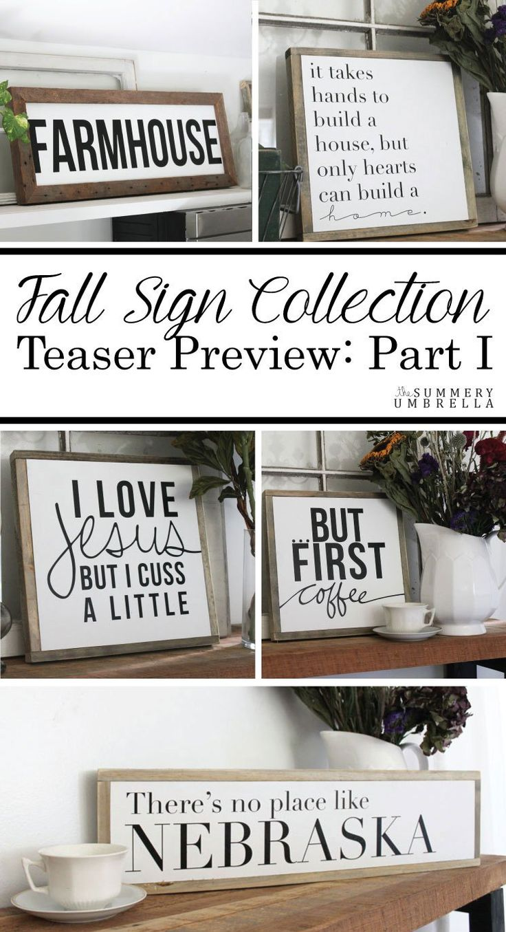 Today I'm revealing part of my Fall Sign Collection that will be going live in the shop this Saturday! Come check out this sneak peek of these new beauties!