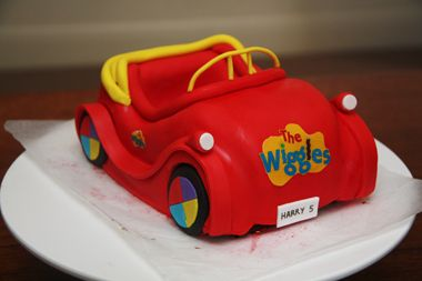 How to make a Wiggles Big Red Car cake - part 2 by Bronnie Bakes.