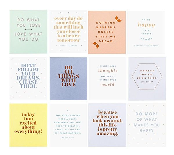 QUOTE CARDS SET OF 12: INSPIRATION