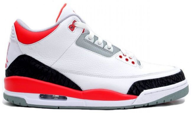 Air Jordan Retro III 3 Fire Red