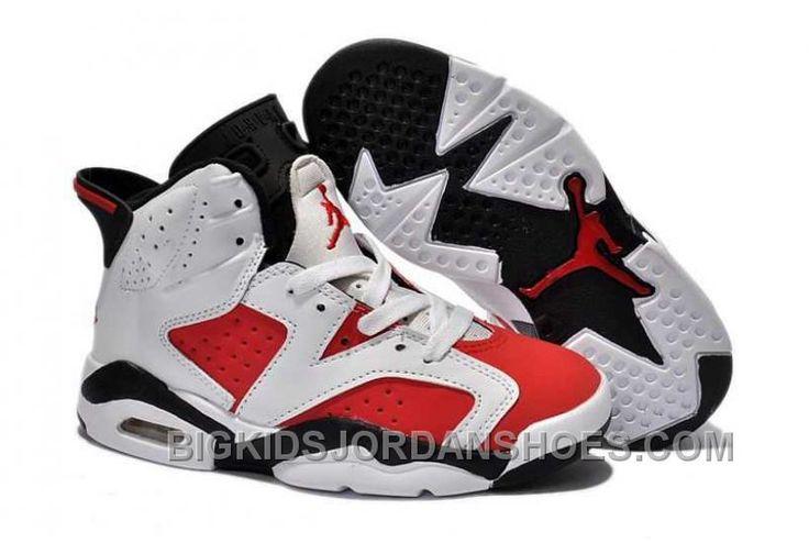 http://www.bigkidsjordanshoes.com/nike-air-jordan-6-kids-white-red-black-shoes-online.html NIKE AIR JORDAN 6 KIDS WHITE RED BLACK SHOES ONLINE Only $84.72 , Free Shipping!
