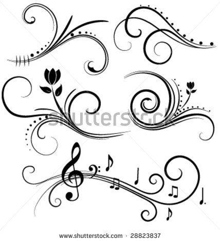 Swirly Designs Swirl Design Elements Stock Vector 28823837