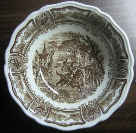 Brown Toile Paul Revere Horse Americana Bowl S & 51 best Decorative Dishes with Horses images on Pinterest ...