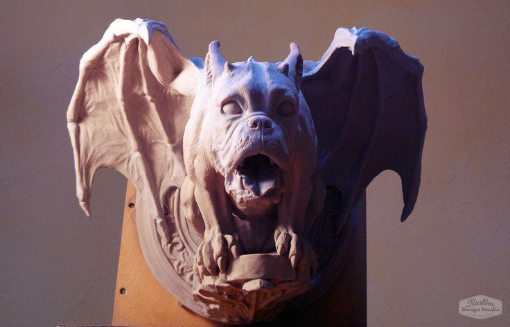 Front view of Gargoyle sculpture.
