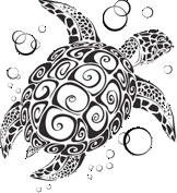 Jeanne Dancs' beautiful turtle (I drew a turtle a bit like this...If I were to ever get a tatoo it would have been my turtle.)