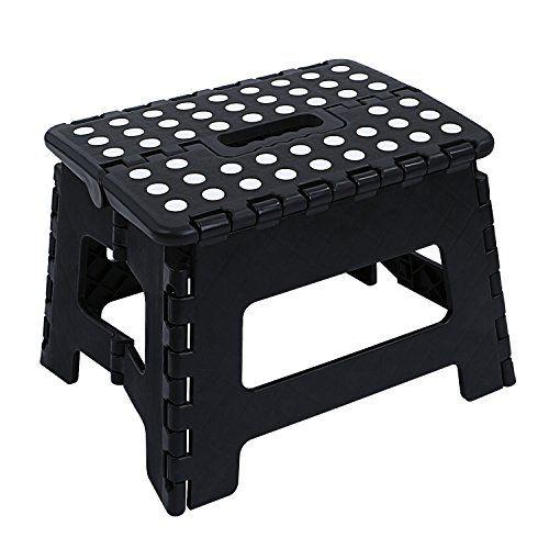 Pleasant Nonmon Plastic Folding Step Stool Black Great Kitchen Lamtechconsult Wood Chair Design Ideas Lamtechconsultcom