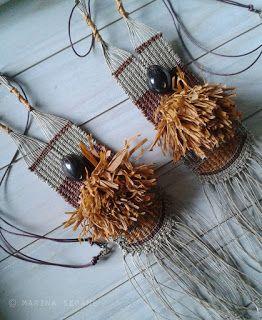 Marina Seoane - Ilustraciones: Colgante con semilla negra